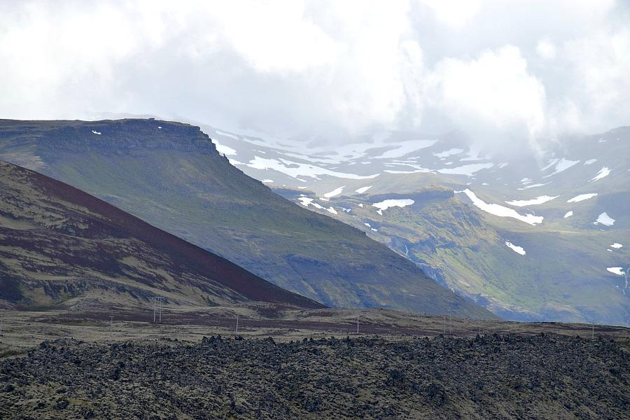 IJsland Súgandiseyjarviti Berserkjahraun