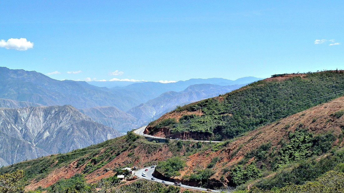 Een auto huren in Colombia: route San Gil - Bucaramanga