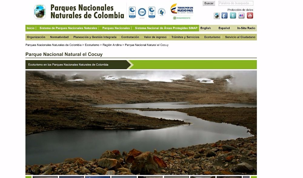 Homepage Cocuy Colombia