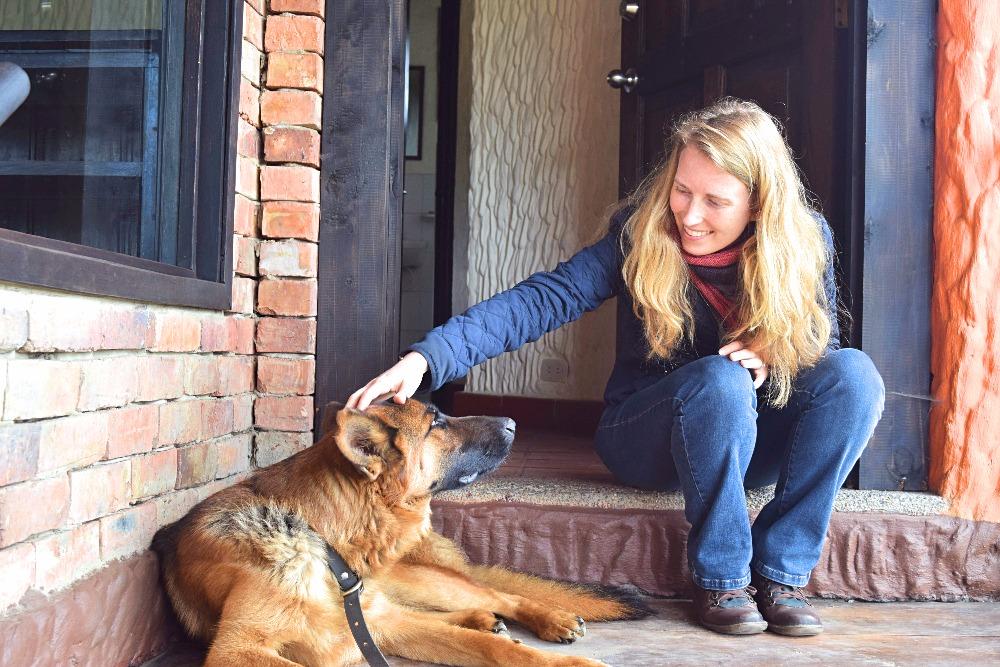 Wonen op een Colombiaanse finca - hond