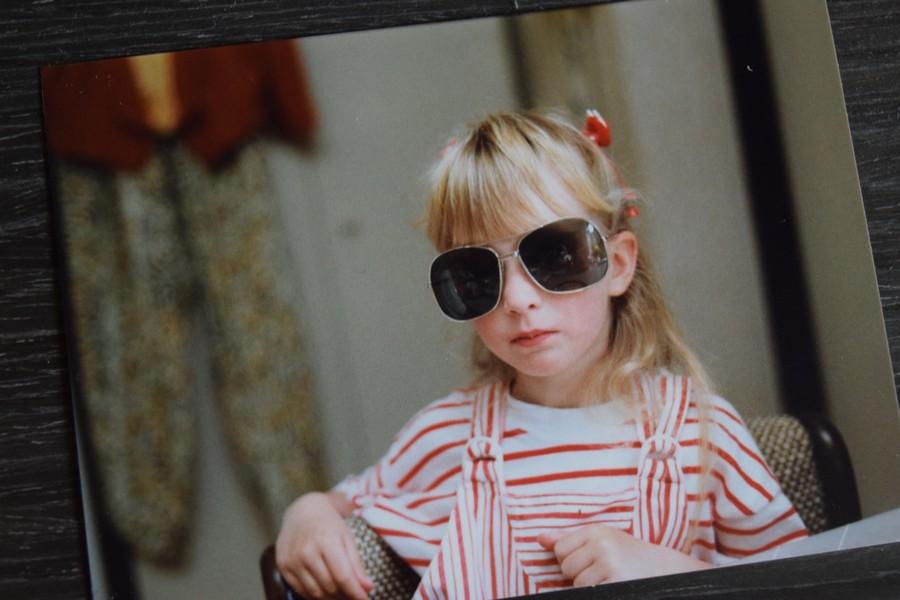 Ik met zonnebril, 1987