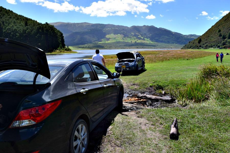 Het meer van Neusa: vastlopen met de auto