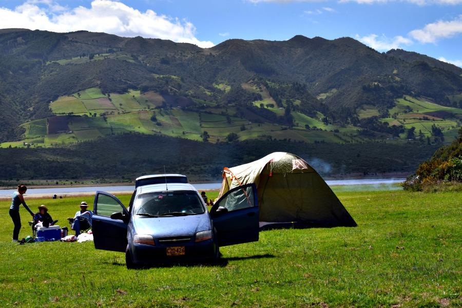 Het meer van Neusa: relaxen