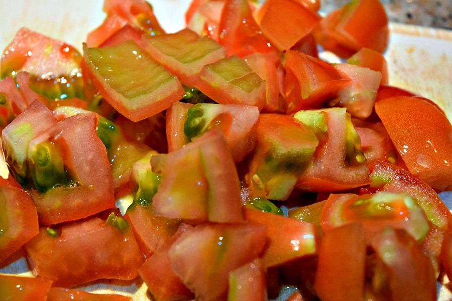 Tomaten in blokjes