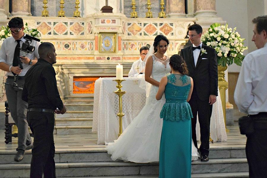 Colombiaanse bruiloft: met de bruidsmeisjes en bruidsjonkers
