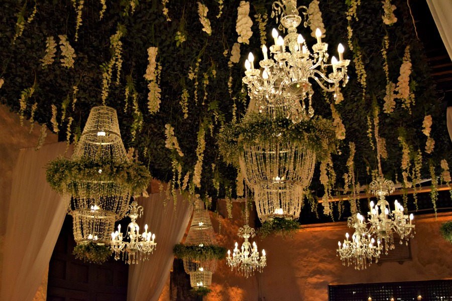 Een Colombiaanse bruiloft: de dinerzaal en decoratie