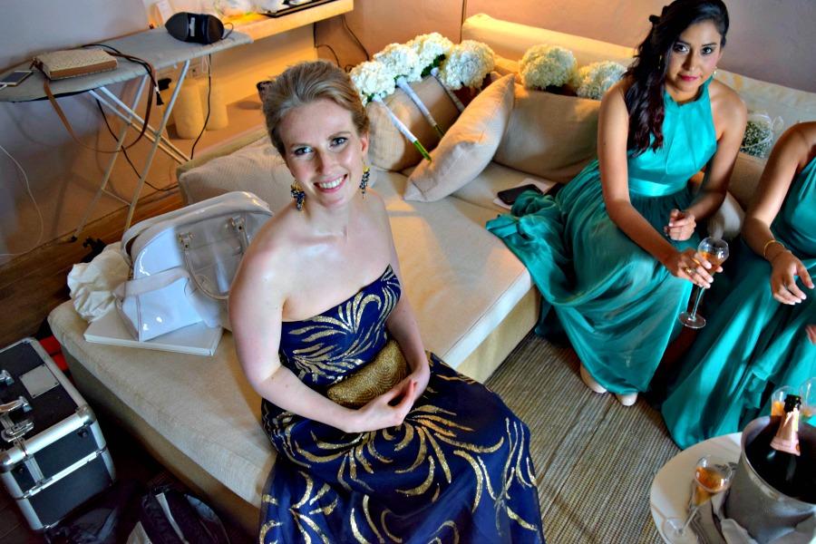 Colombiaanse bruiloft - ik met een bruidsmeisje