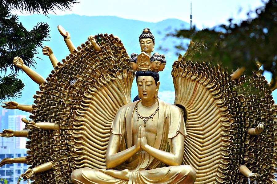 Hongkong - Tempel van de 10.000 Boeddha's