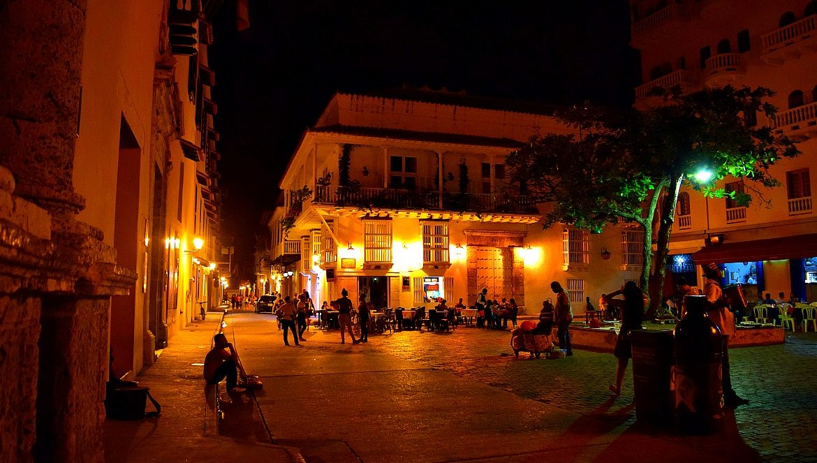 Cartagena in de nacht