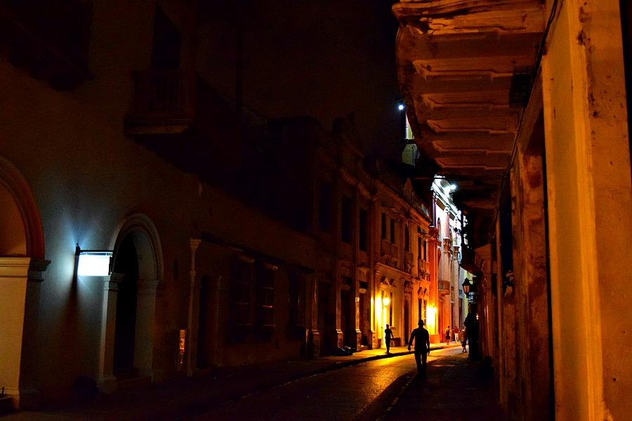 Cartagena in de nacht