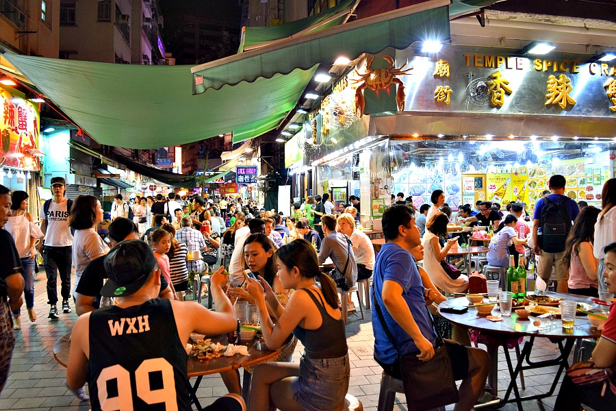 Markten in Hong Kong: Tempel Street Night Market