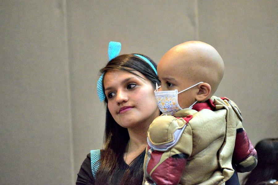 Fotoreportage kinderen met kanker - Halloween feest
