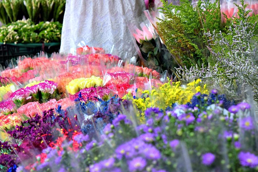Markten in Hong Kong: Bloemen markt