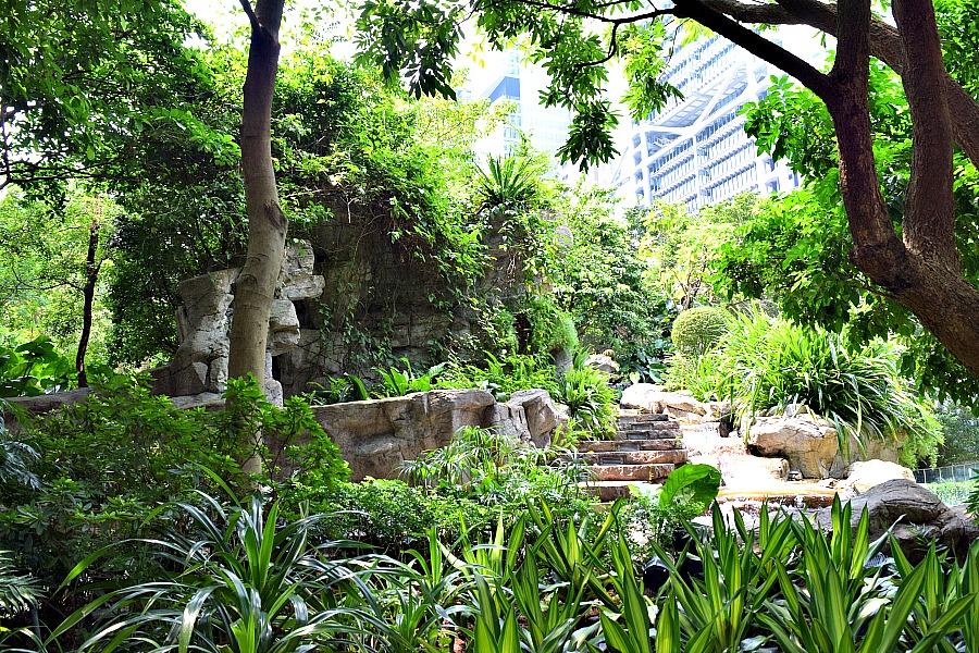 Cheung Kong Park - parken in Hongkong