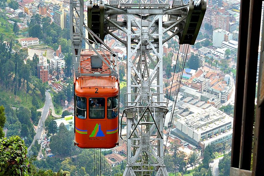 Doen in Bogotá: Monserrate kabelbaan