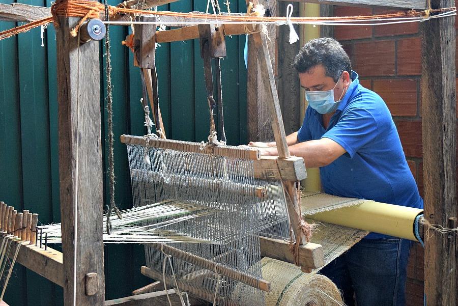 Bezoek een weverij in Curití - San Gil