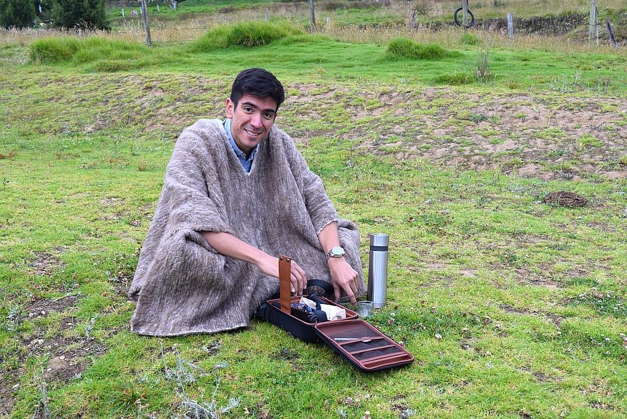 Ruana in Colombia - koffie maken