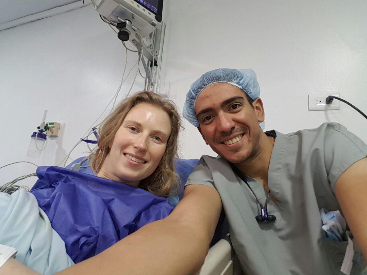 In het ziekenhuis na de operatie