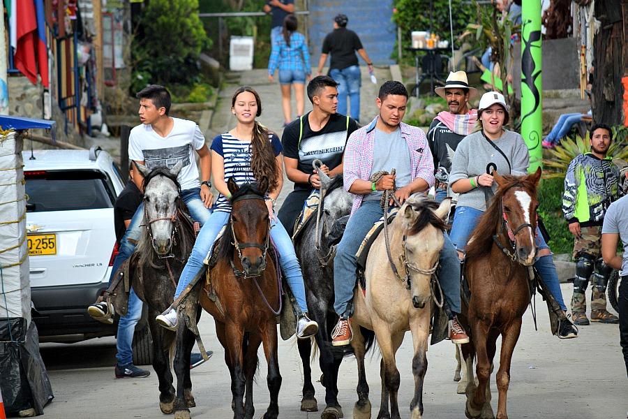 Paardrijden Salento Colombia