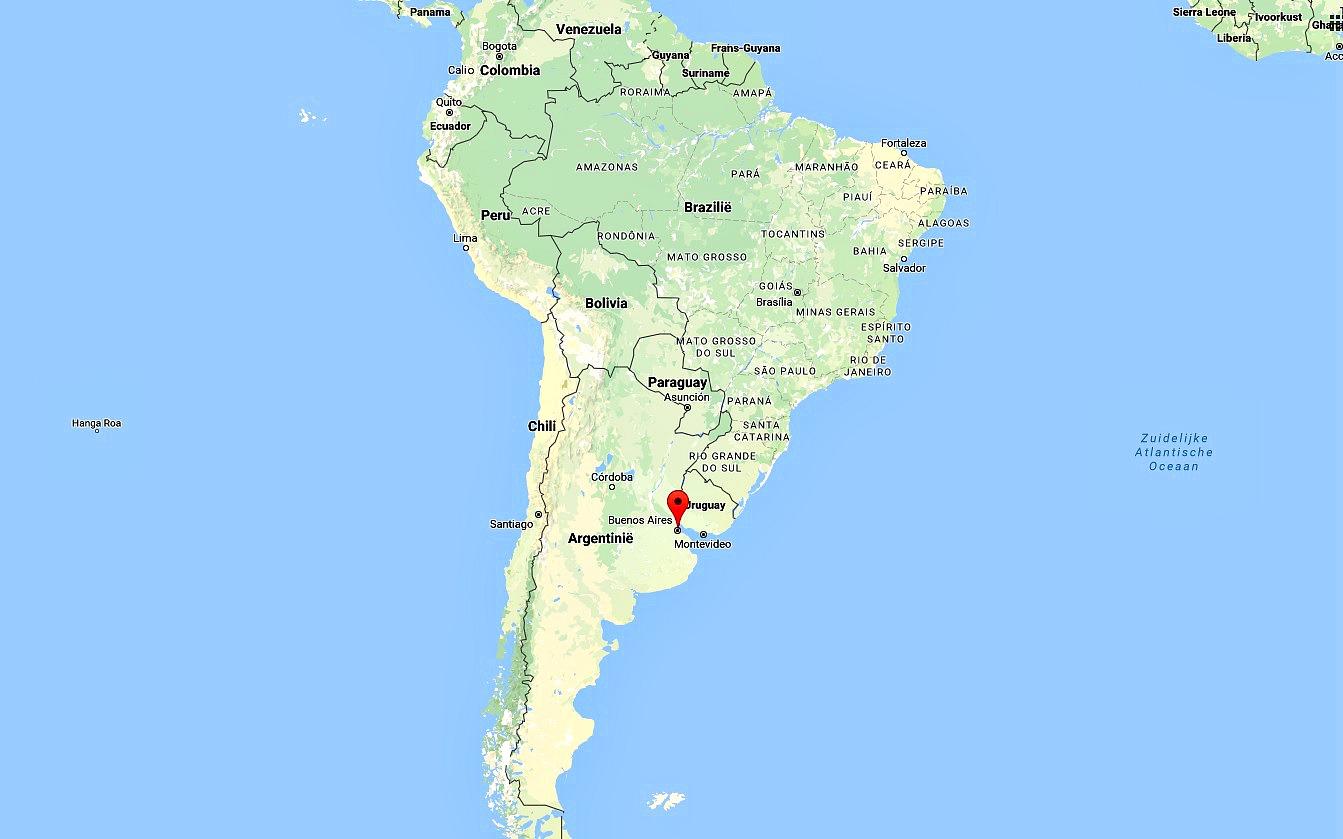 Buenos Aires op de kaart