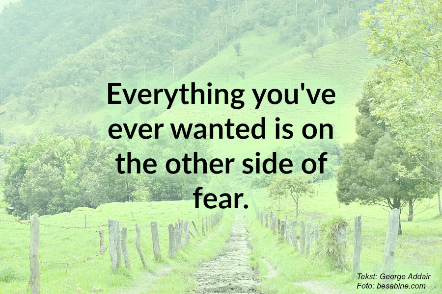 Quote 'Everything you've ever wanted is on the other side of fear'