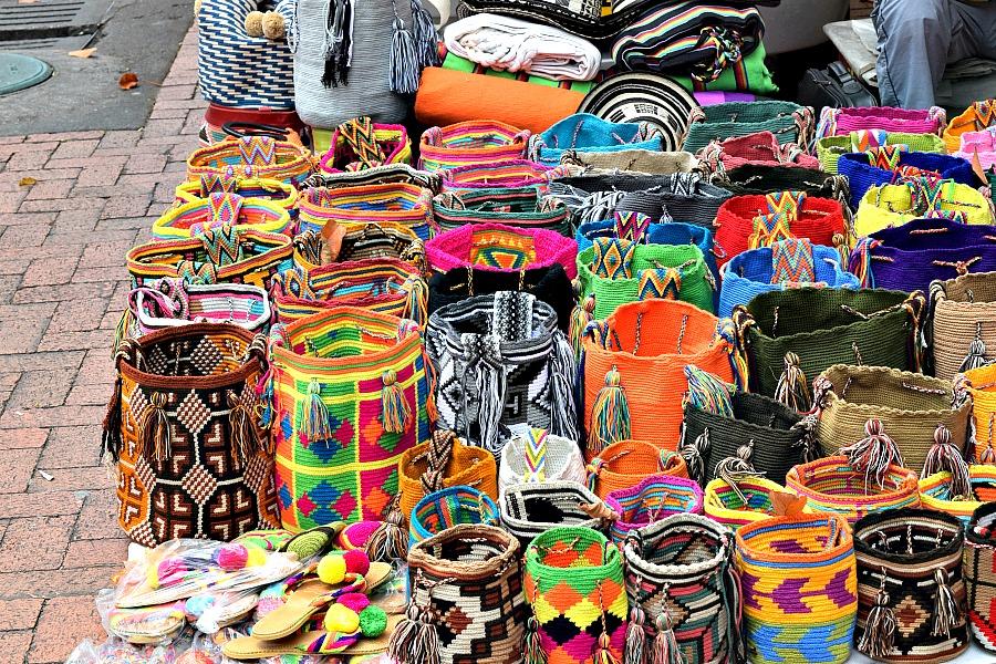 Usaquén Bogotá Colombia Zondagsmarkt