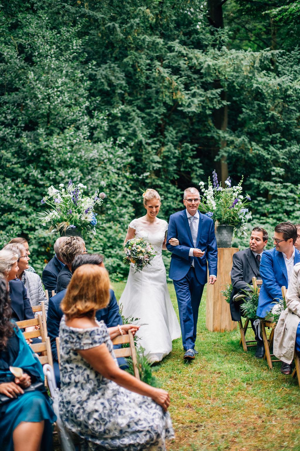 Trouwen in het bos-ceremonie