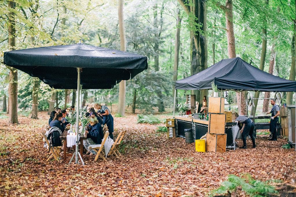 Trouwen in het bos-diner