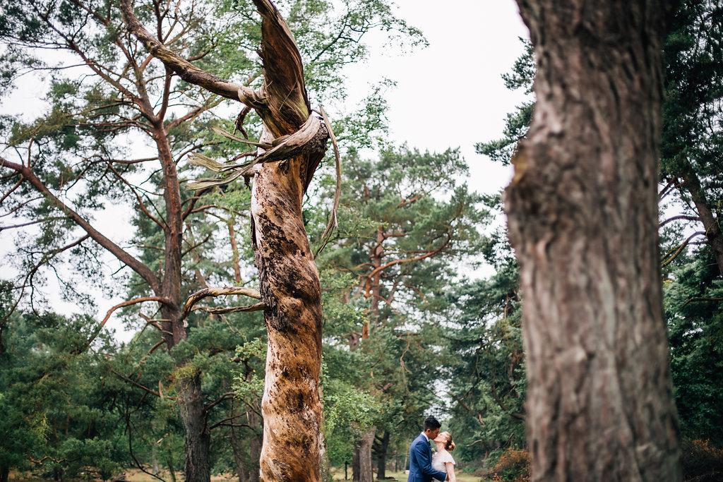 Trouwen in het bos - photoshoot