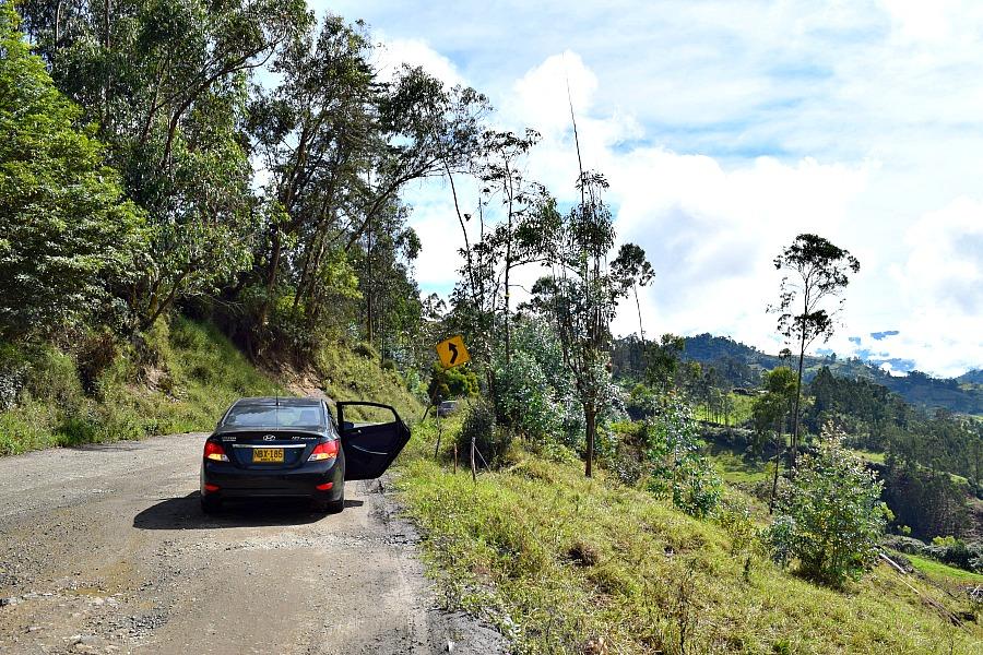 Een auto huren in Colombia - uitrusten onderweg naar Guavio