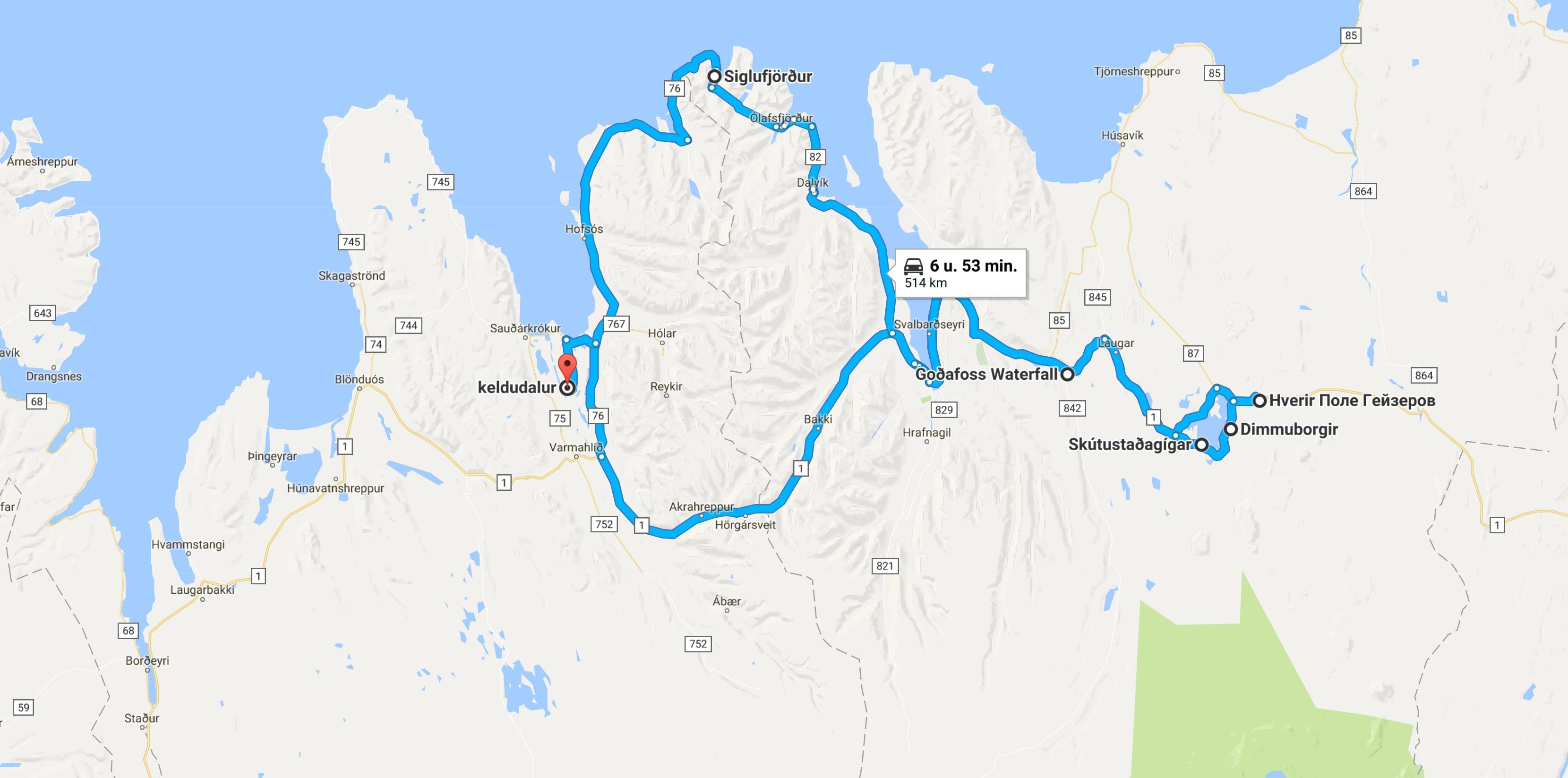 Route IJsland dag 3