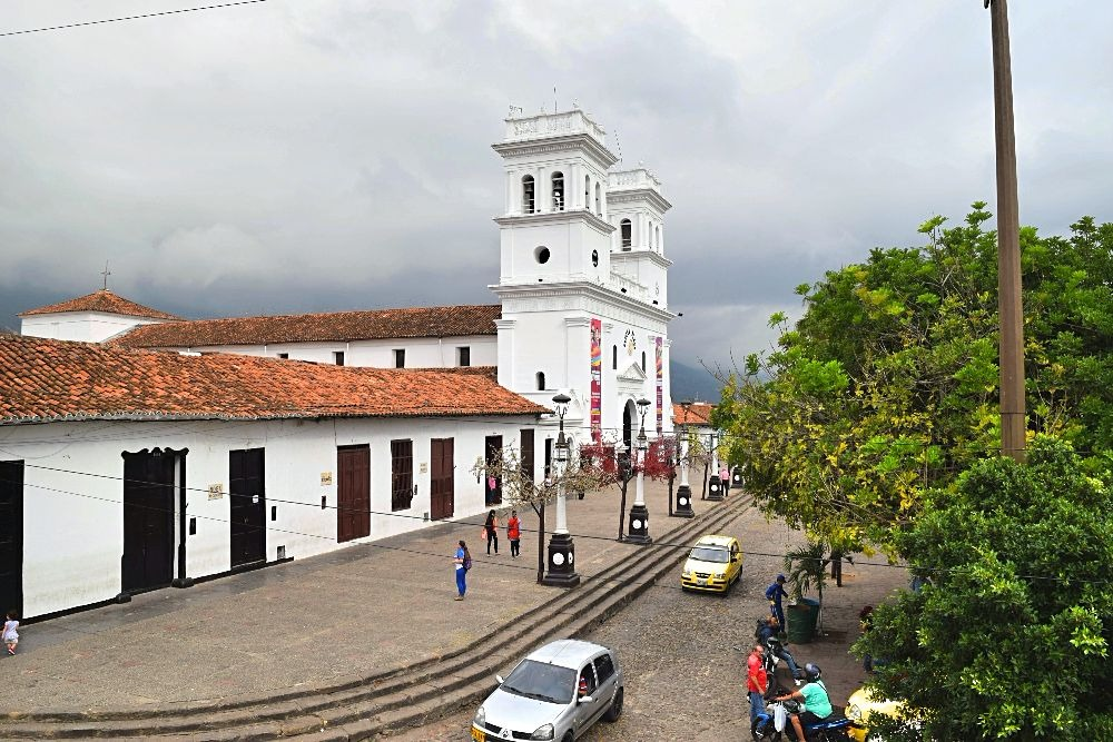 Giron witte stad Colombia