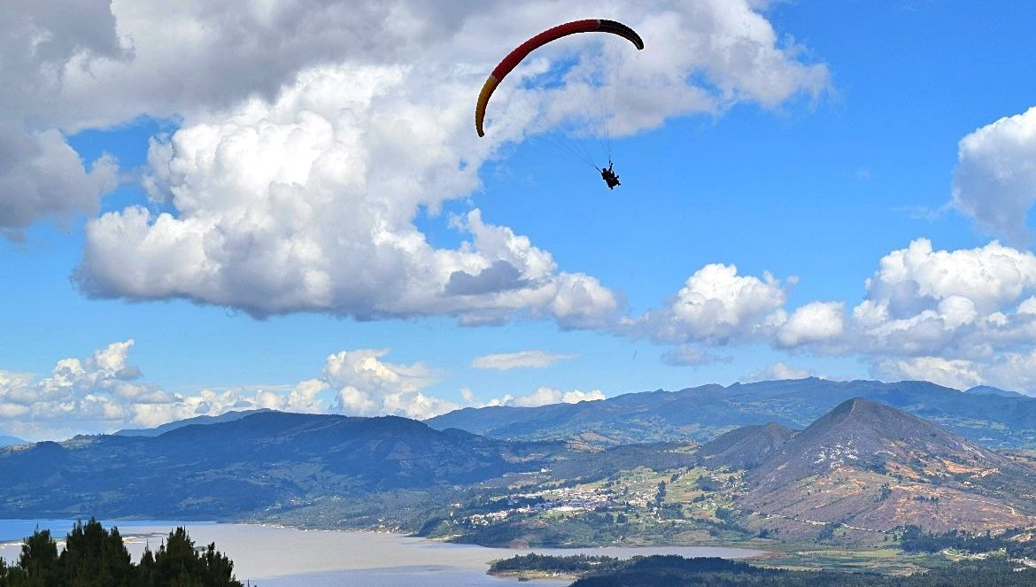 Paragliden in Colombia - Sopó