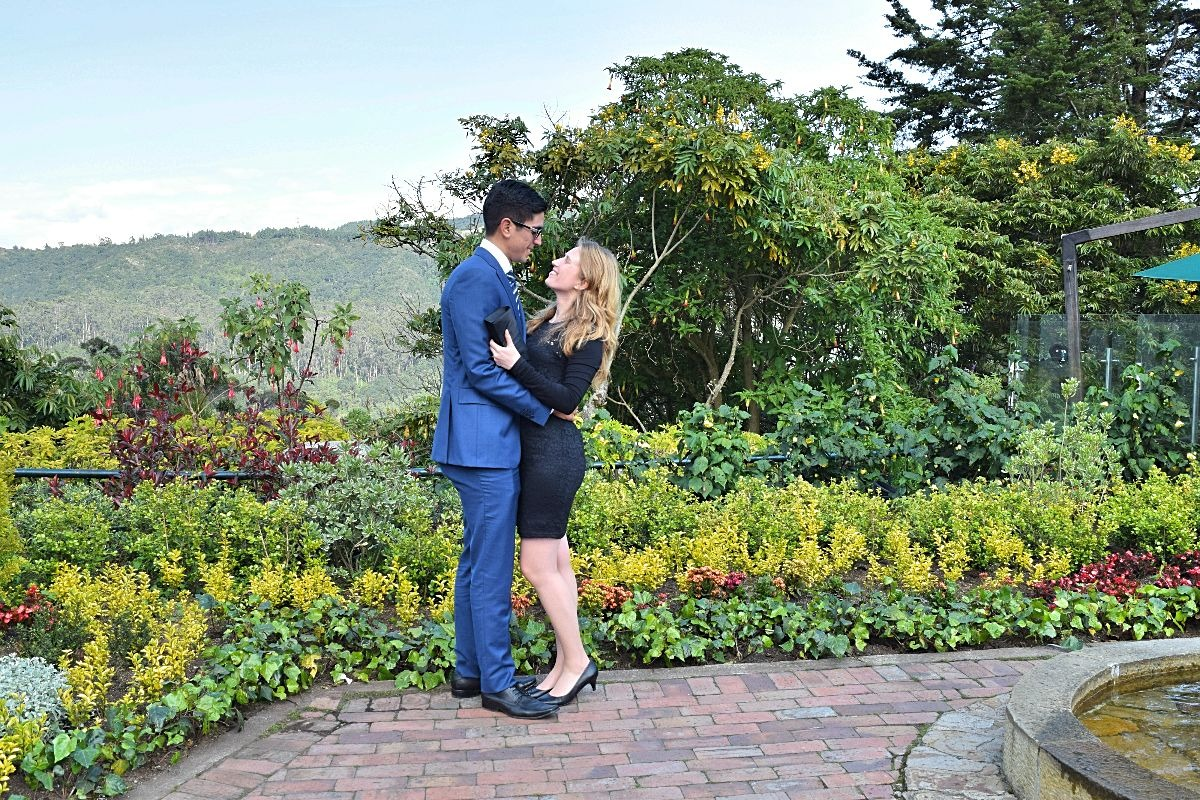 Met mijn man op de foto