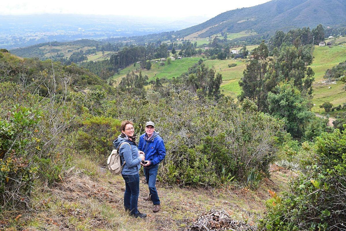 Ouders op bezoek in Colombia