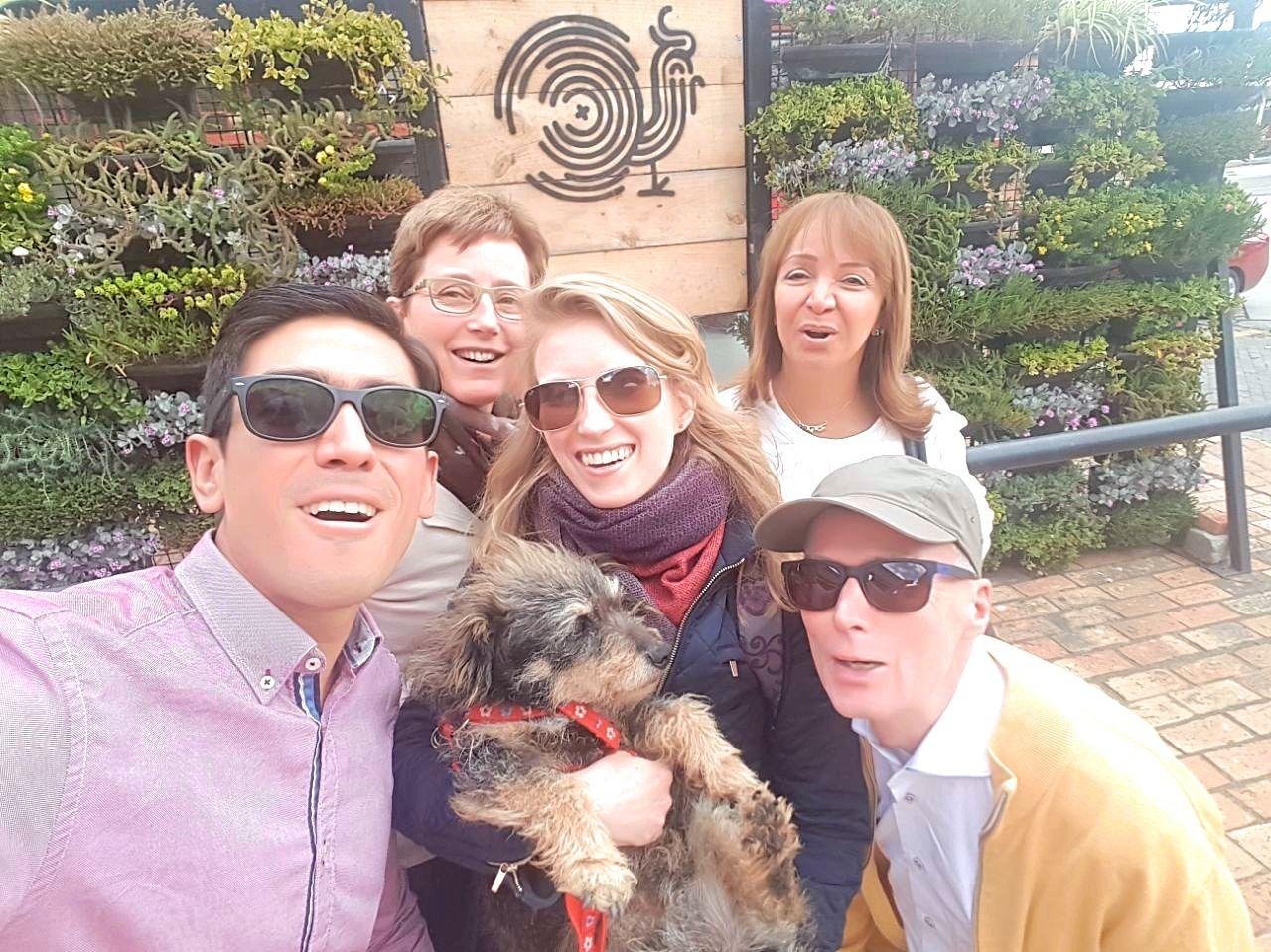 Ouders op bezoek in Colombia - familie foto