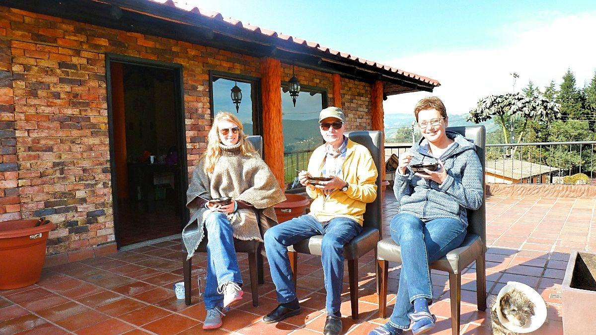 Ouders op bezoek in Colombia - op de finca 2