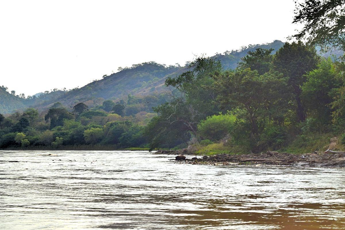 Varen over de Río Magdalena Colombia