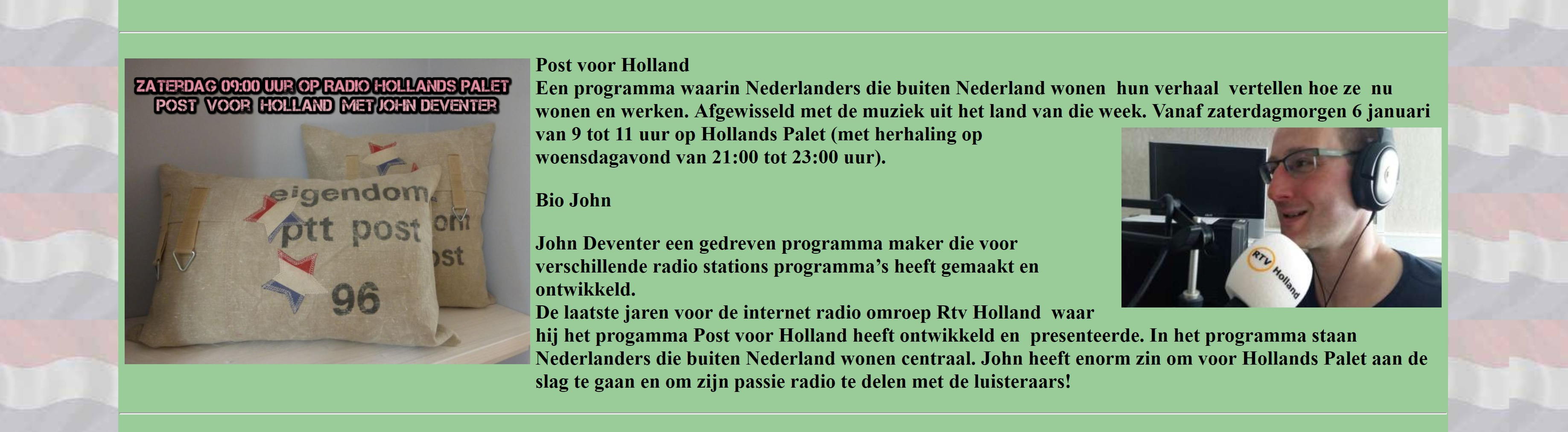 Post voor Holland