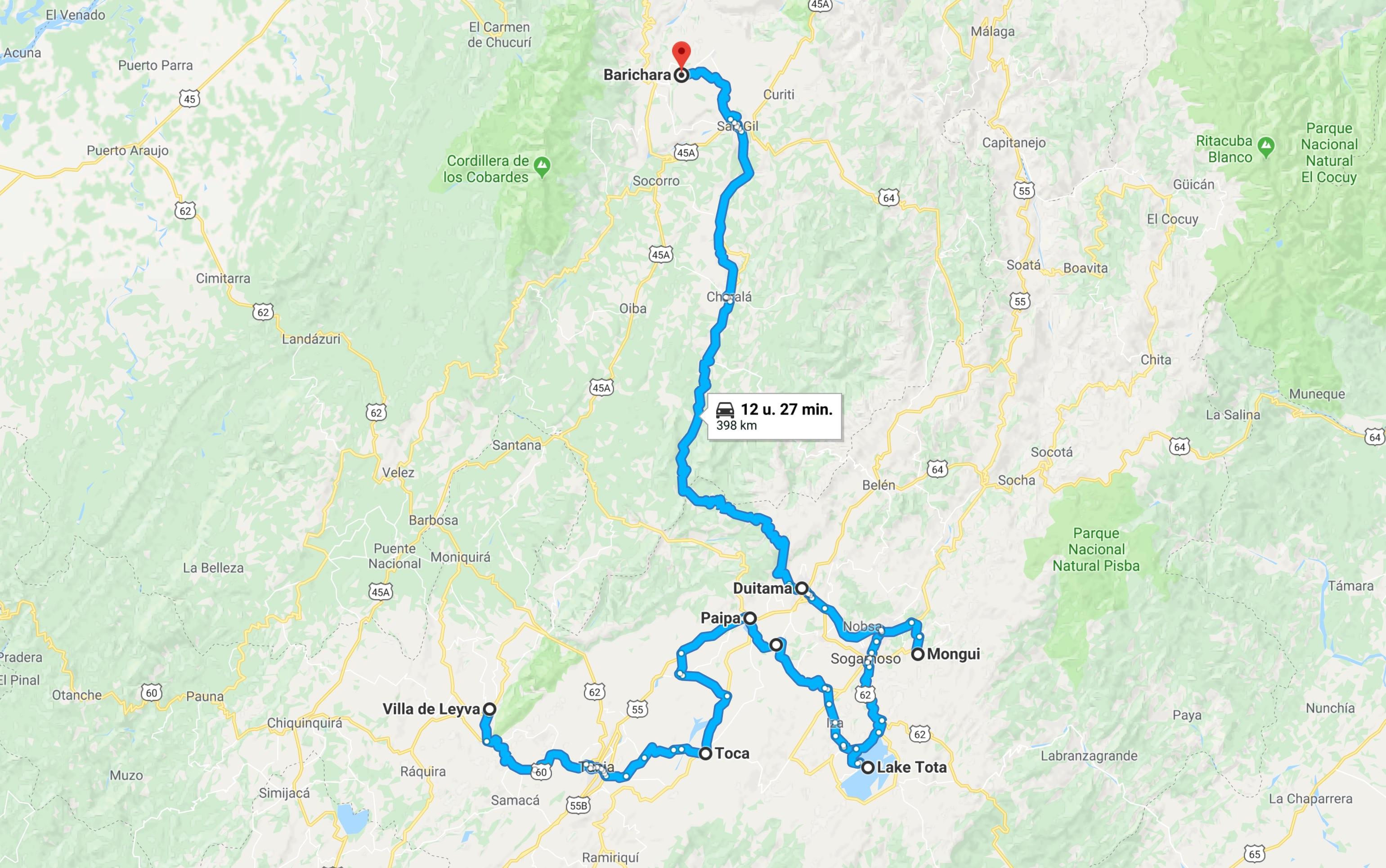 Reisroutes Colombia buiten de gebaande paden 2 - Villa de Leyva - Barichara met omweg
