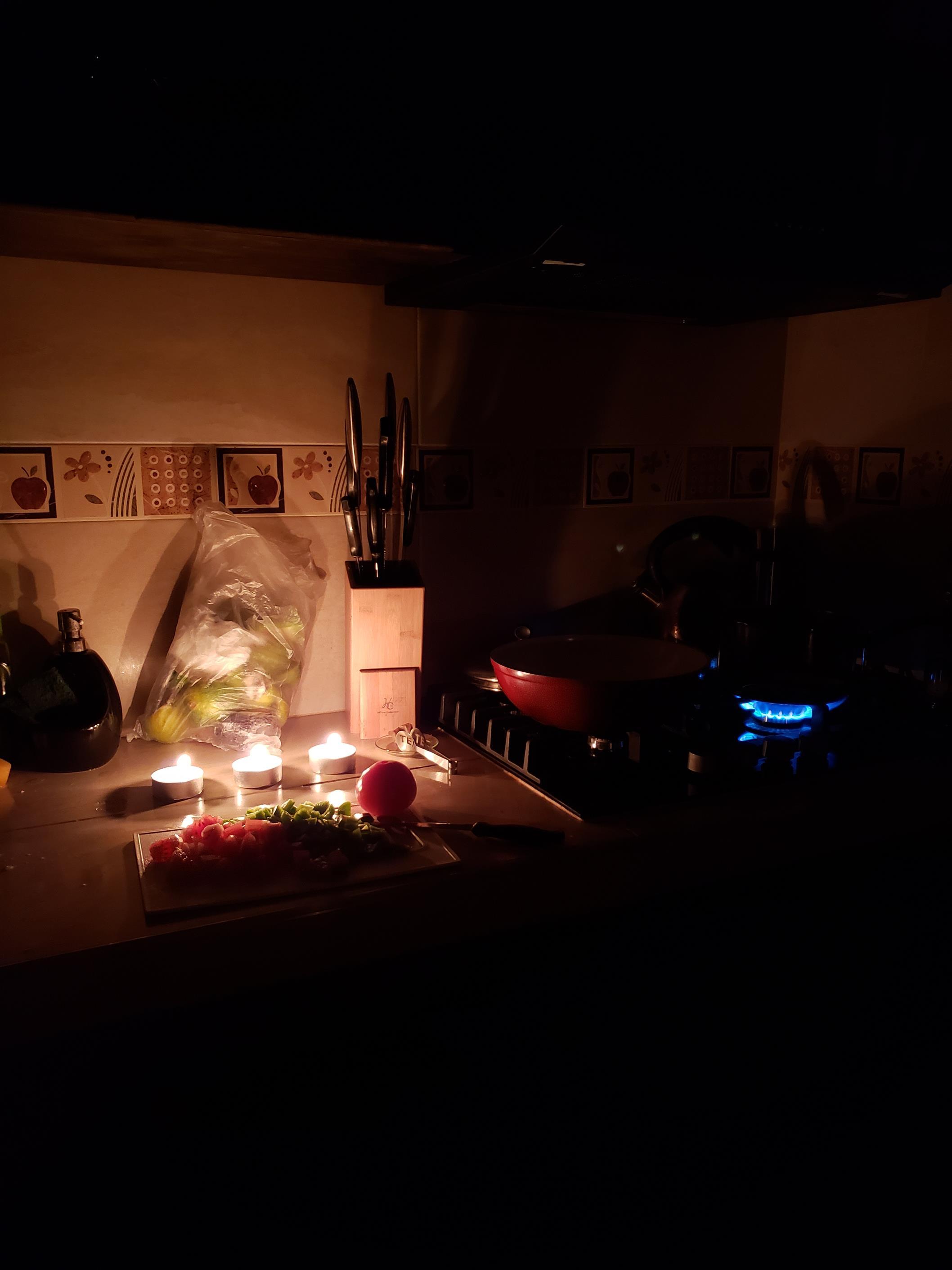 30 uur stroomstoring koken bij kaarslicht