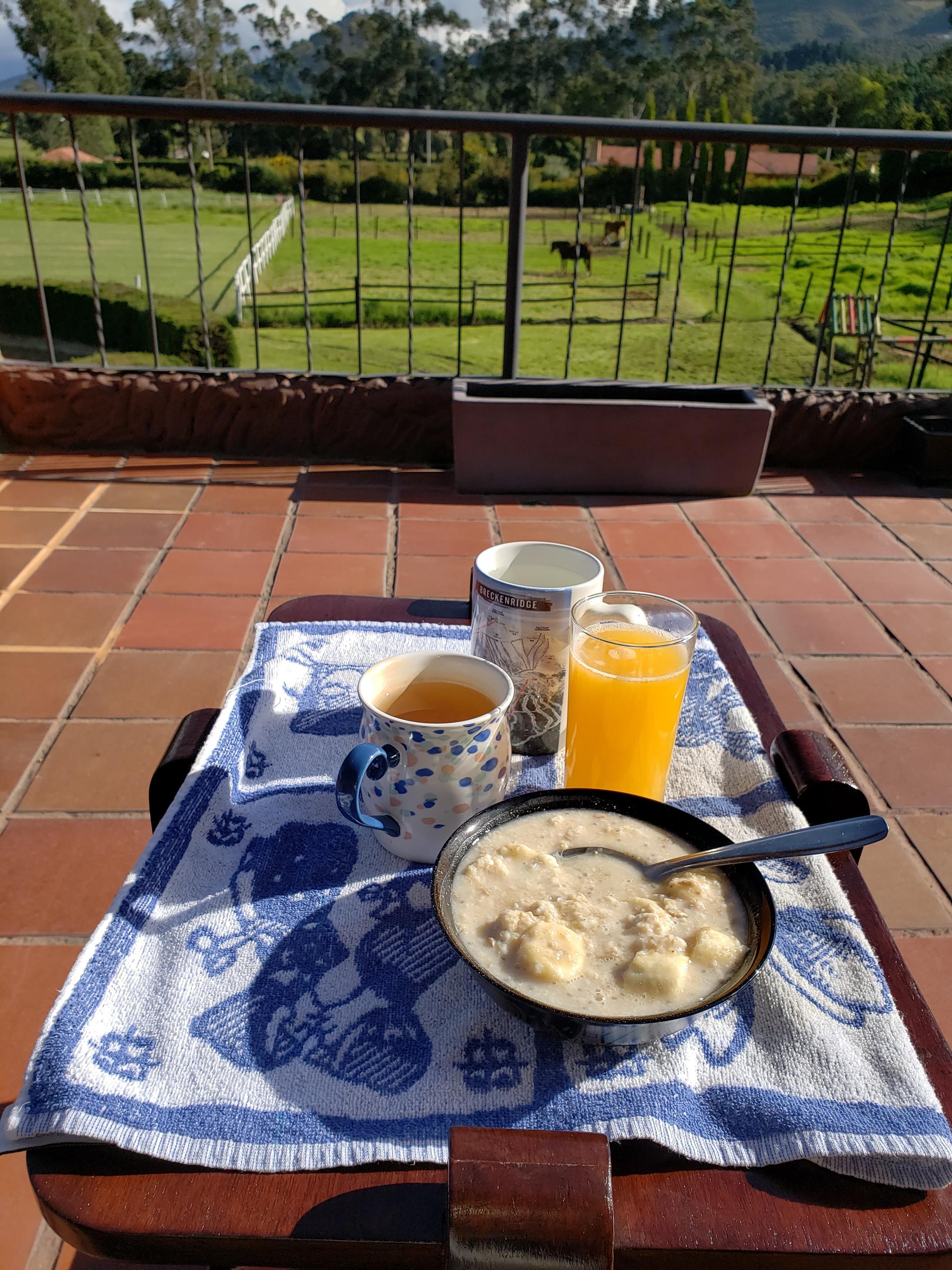 Eten op het terras