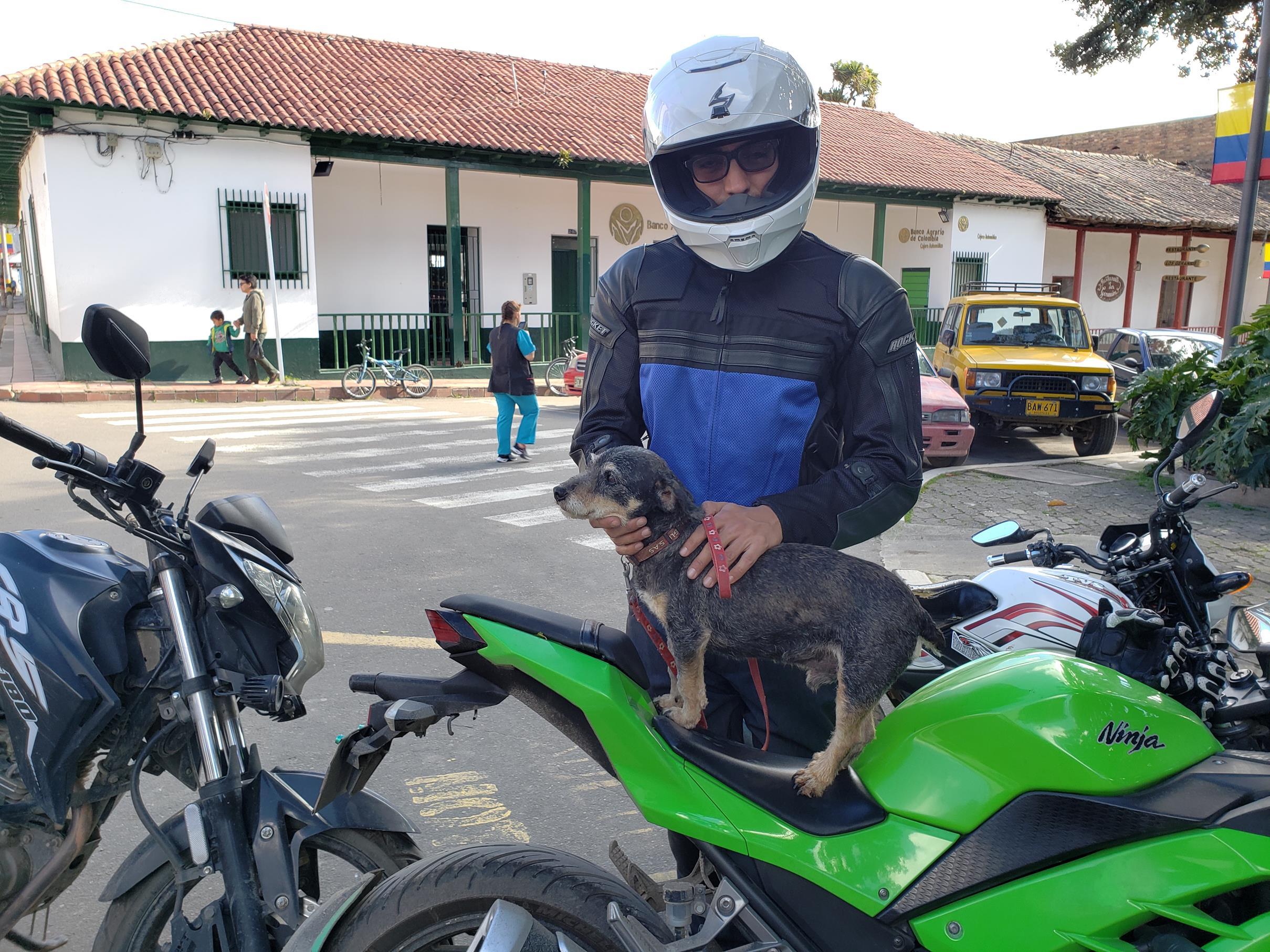 Jimmy en zijn motor