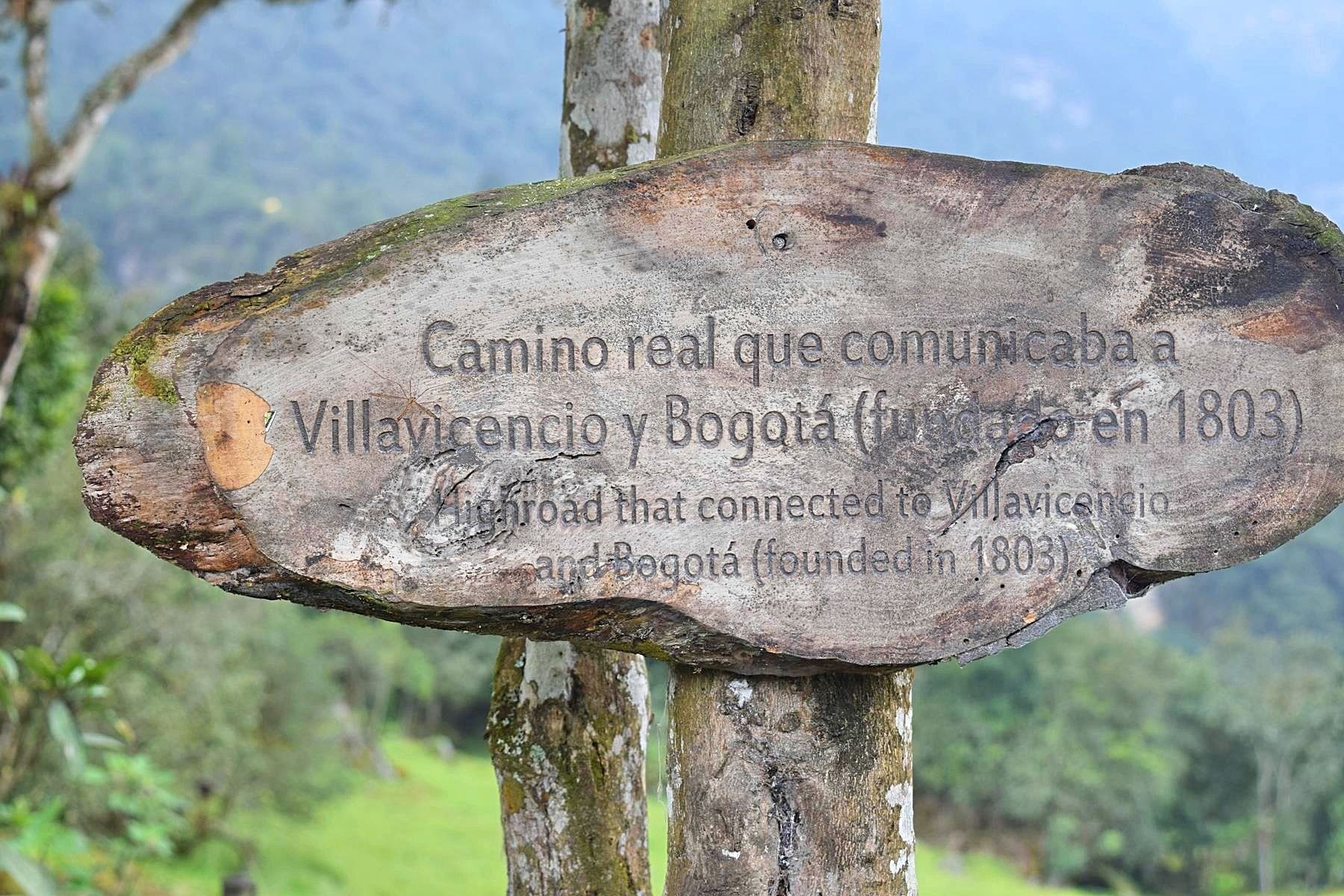 Wandelpad van Bogotá naar Villavicencio