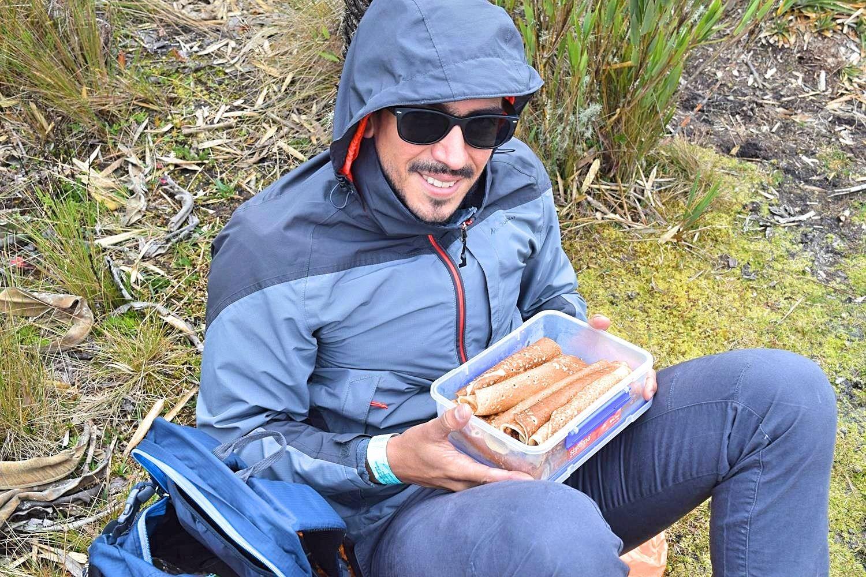 Pannenkoeken eten Colombia