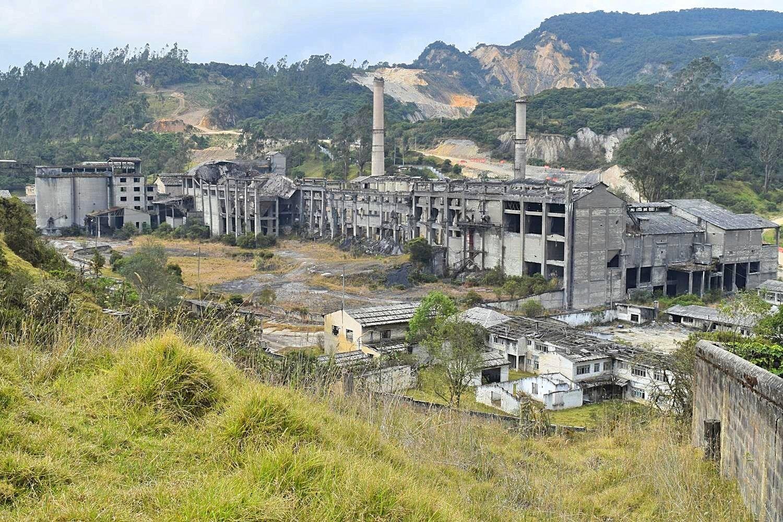 Verlaten industrieterrein Colombia