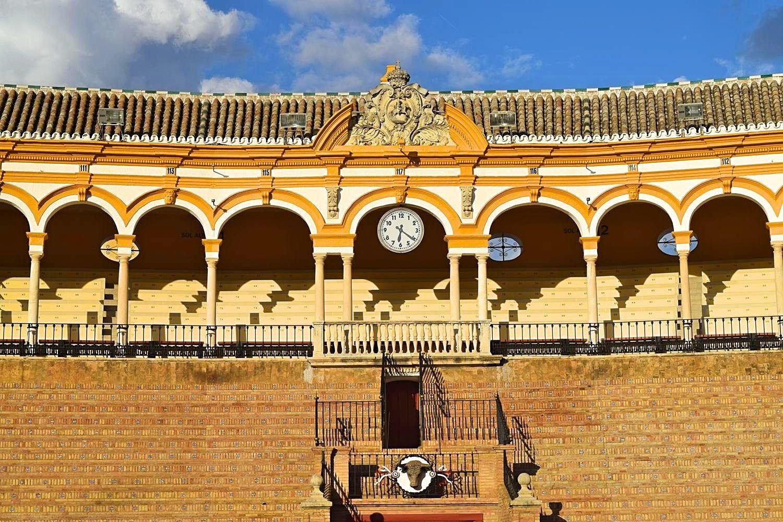 Stierenvechtarena Plaza de Toros Sevilla Spanje