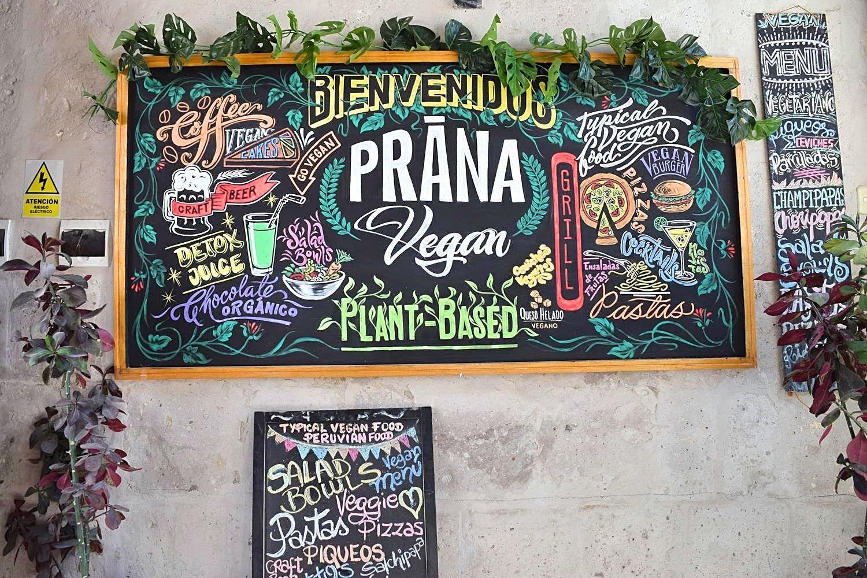 Vegetarisch restaurant Arequipa Peru