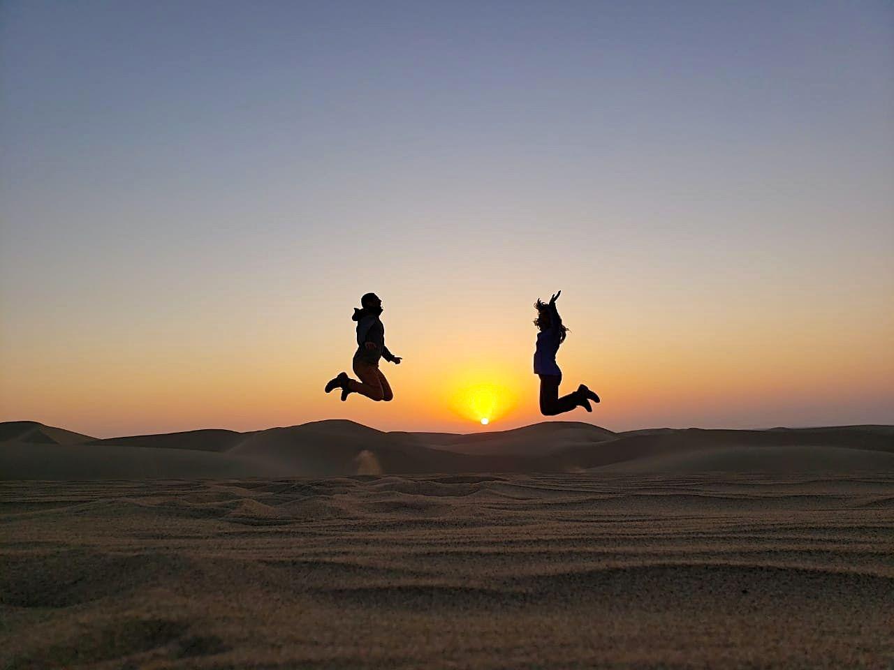 Woestijn Huacachina Peru zonsondergang
