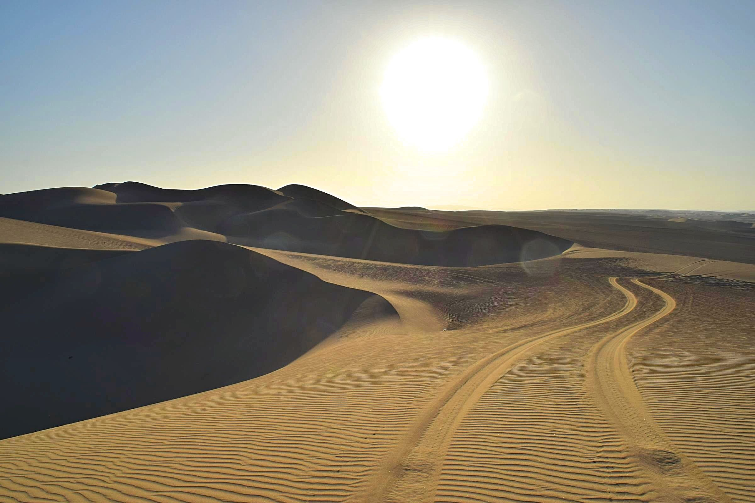 Zonsondergang woestijn Peru